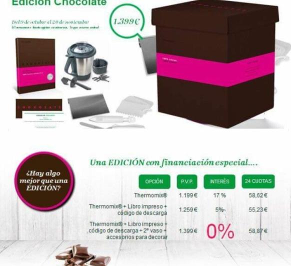 EDICIÓN CHOCOLATE . FINANCIACIÓN 0%