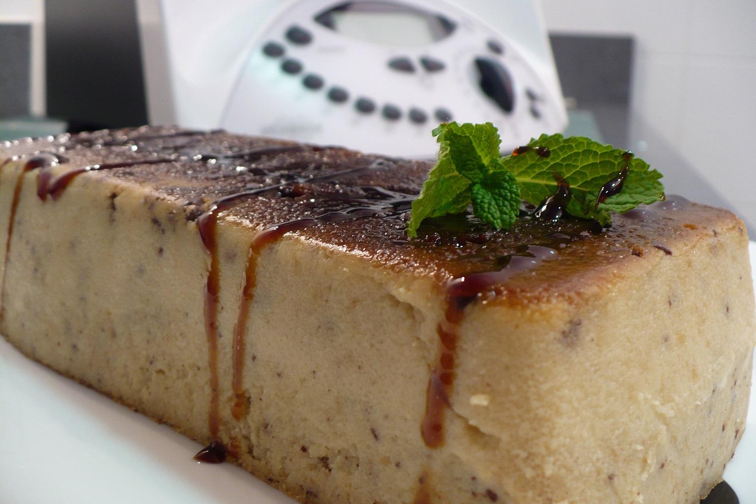 Receta de Pudin de pan de azúcar y chocolate con thermoix