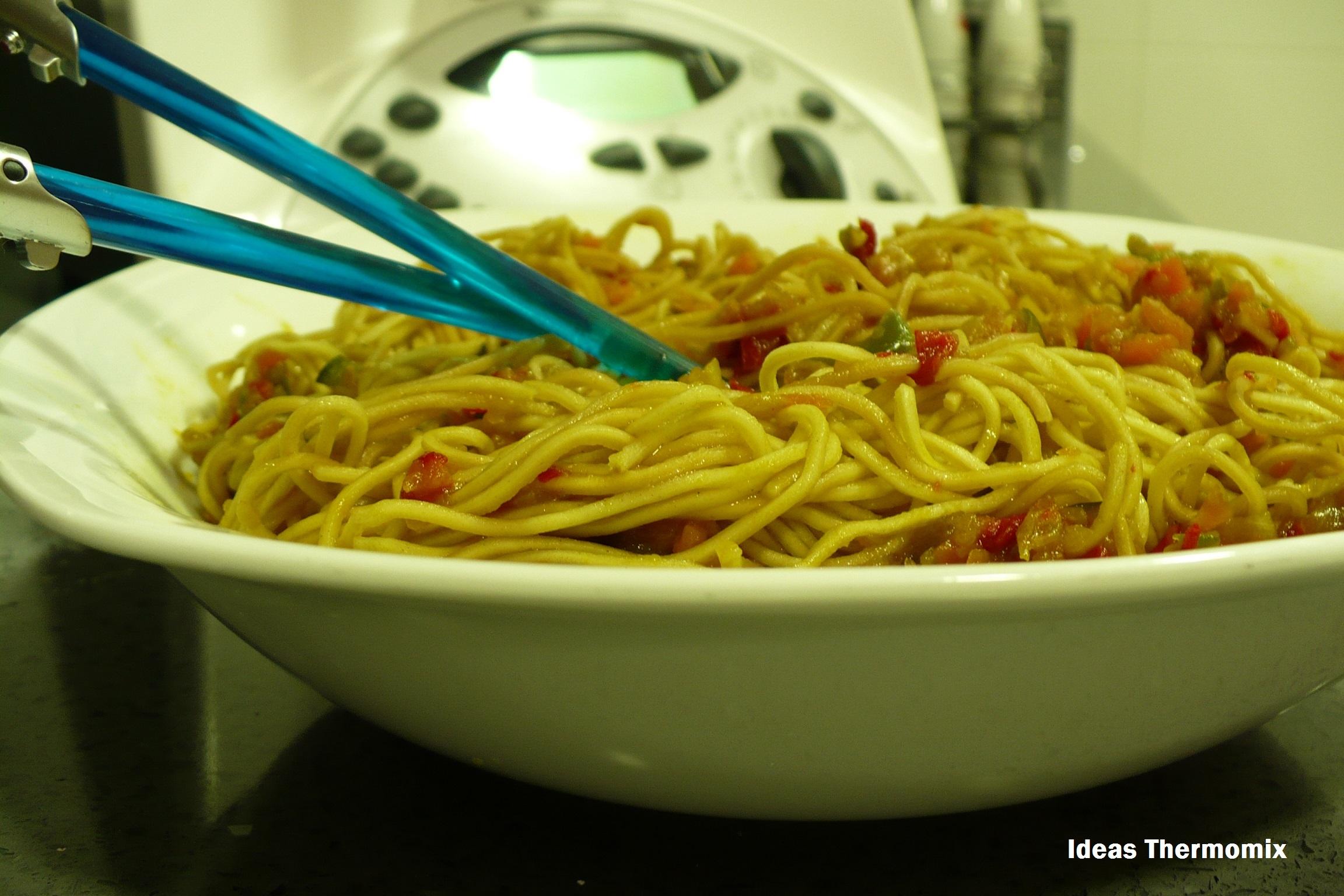 Receta de Fideos Chinos con Verduras con Thermomix®