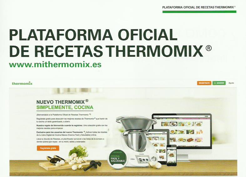 CONOCE NUESTRA PLATAFORMA OFICIAL DE RECETAS Thermomix®