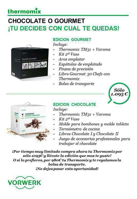 Promoción Chocolate o Gourmet