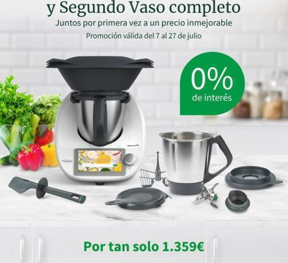 Thermomix® tm6 con doble vaso y 0%
