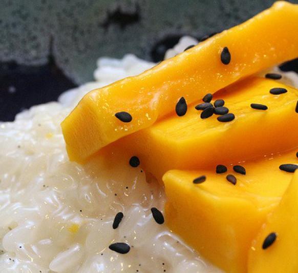 Receta de Arroz con leche de coco y mango con Thermomix®