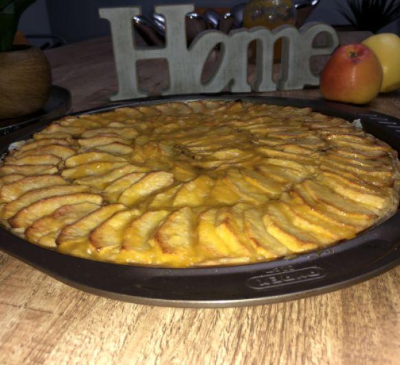 Tarta de manzana sin azucar y sin lactosa