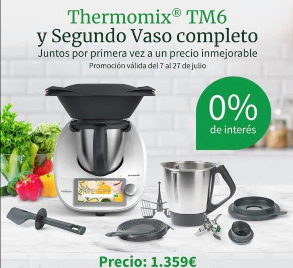 Thermomix® TM6 0% Y POR PRIMERA VEZ CON SEGUNDO VASO