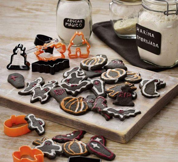 Galletas carbón-Halloween-Cookidoo